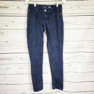 Express Dark Wash Low Wash Skinny Blue Jeans 4
